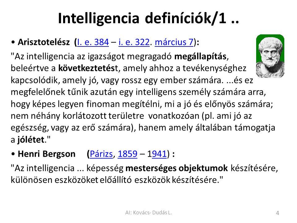 Intelligencia definíciók/1 ..