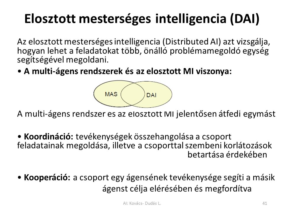 Elosztott mesterséges intelligencia (DAI)