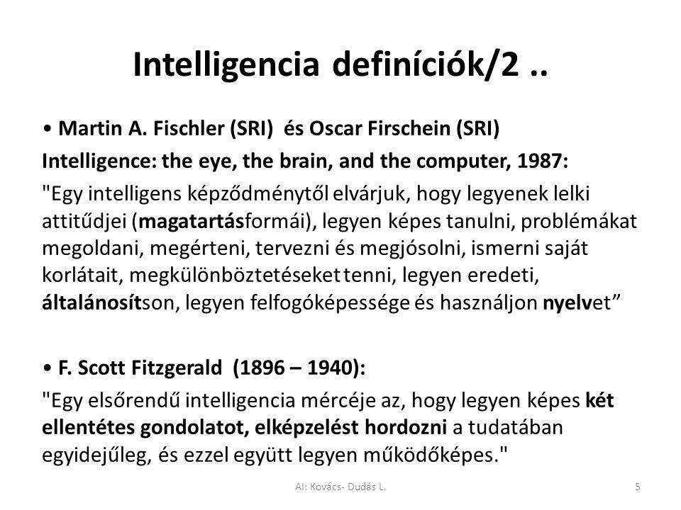 Intelligencia definíciók/2 ..