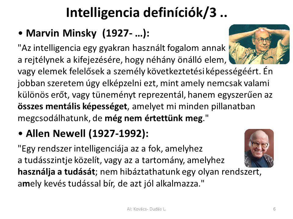 Intelligencia definíciók/3 ..