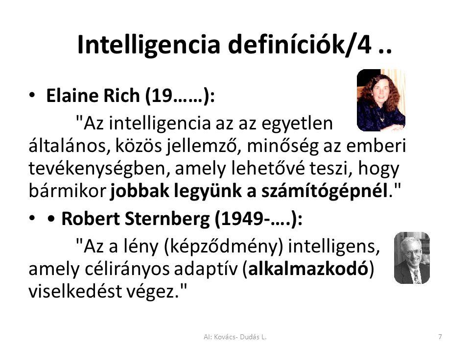 Intelligencia definíciók/4 ..
