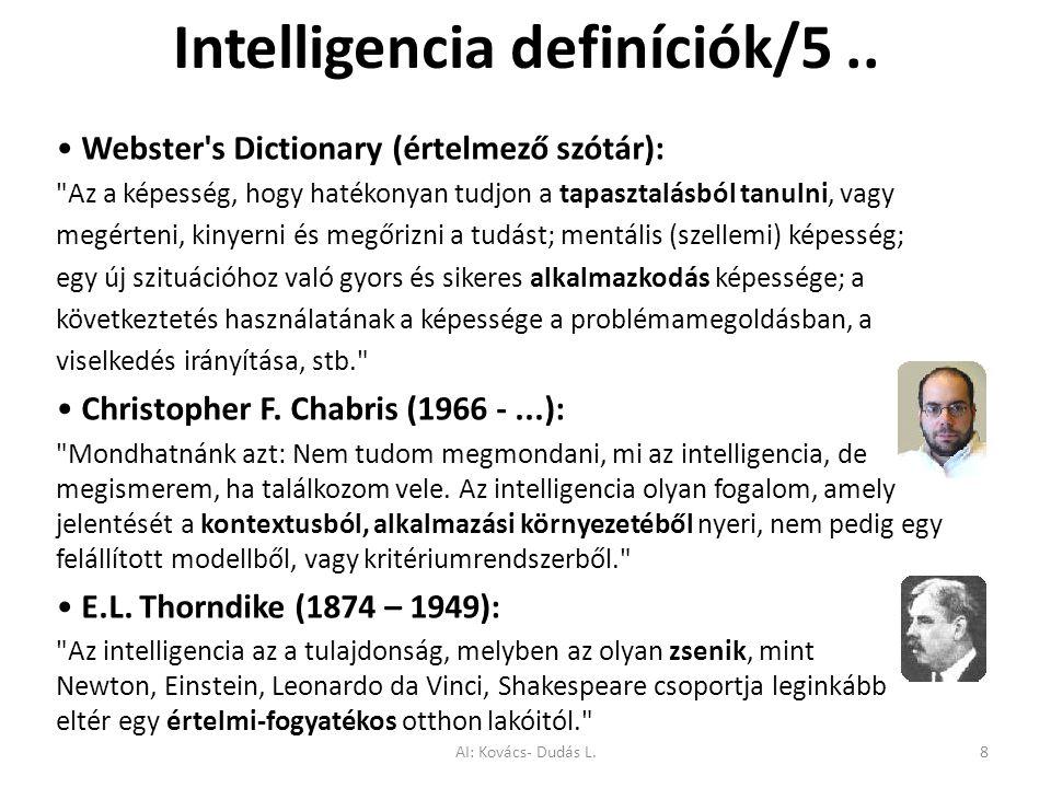 Intelligencia definíciók/5 ..