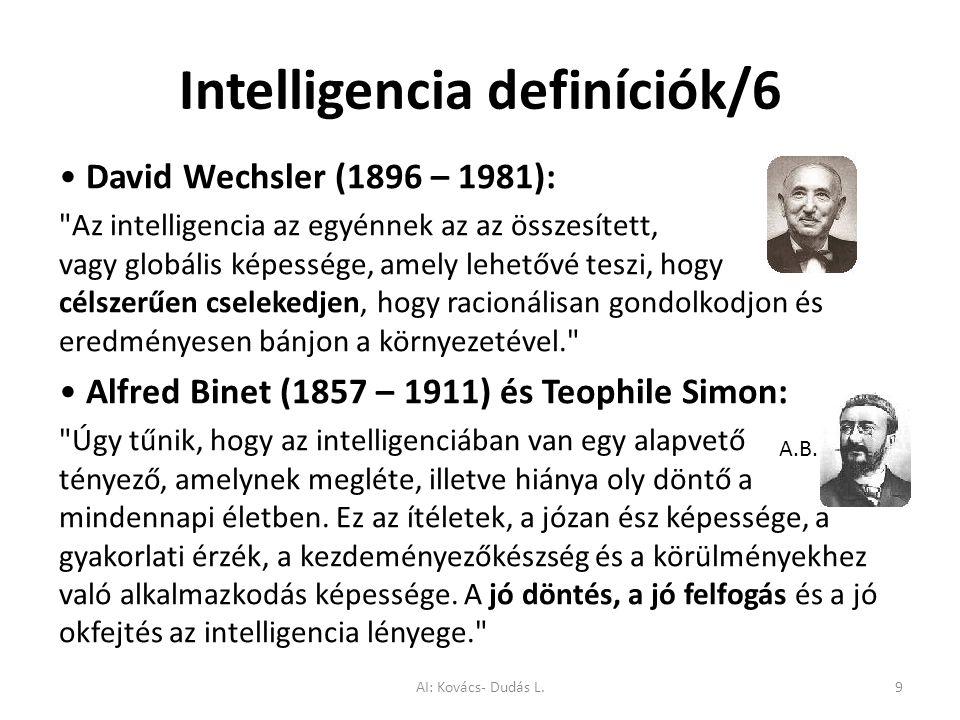 Intelligencia definíciók/6