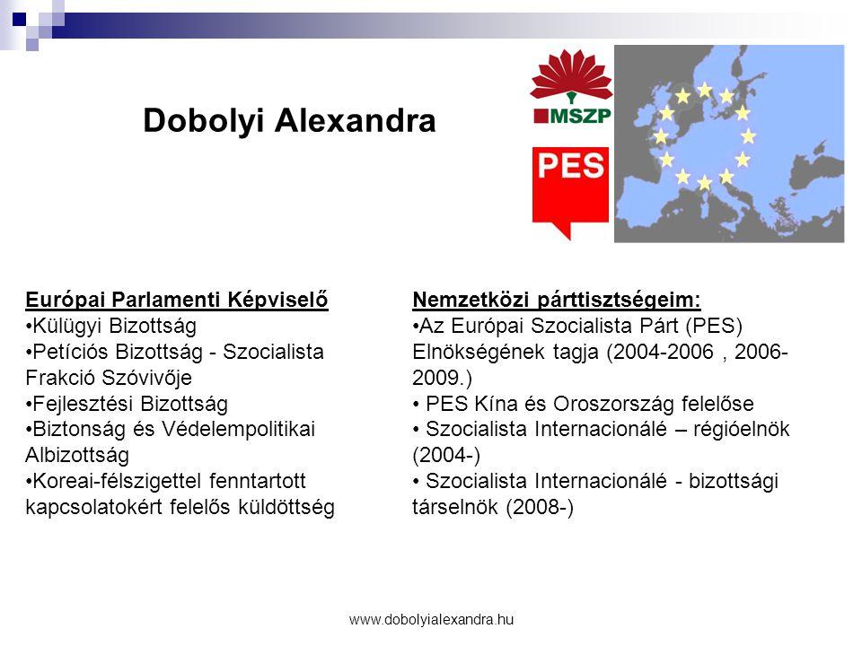 Dobolyi Alexandra Európai Parlamenti Képviselő Külügyi Bizottság
