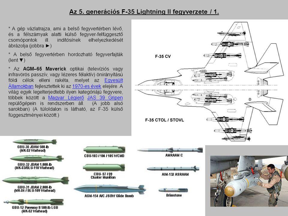 Az 5. generációs F-35 Lightning II fegyverzete / 1.