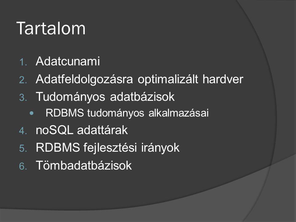 Tartalom Adatcunami Adatfeldolgozásra optimalizált hardver