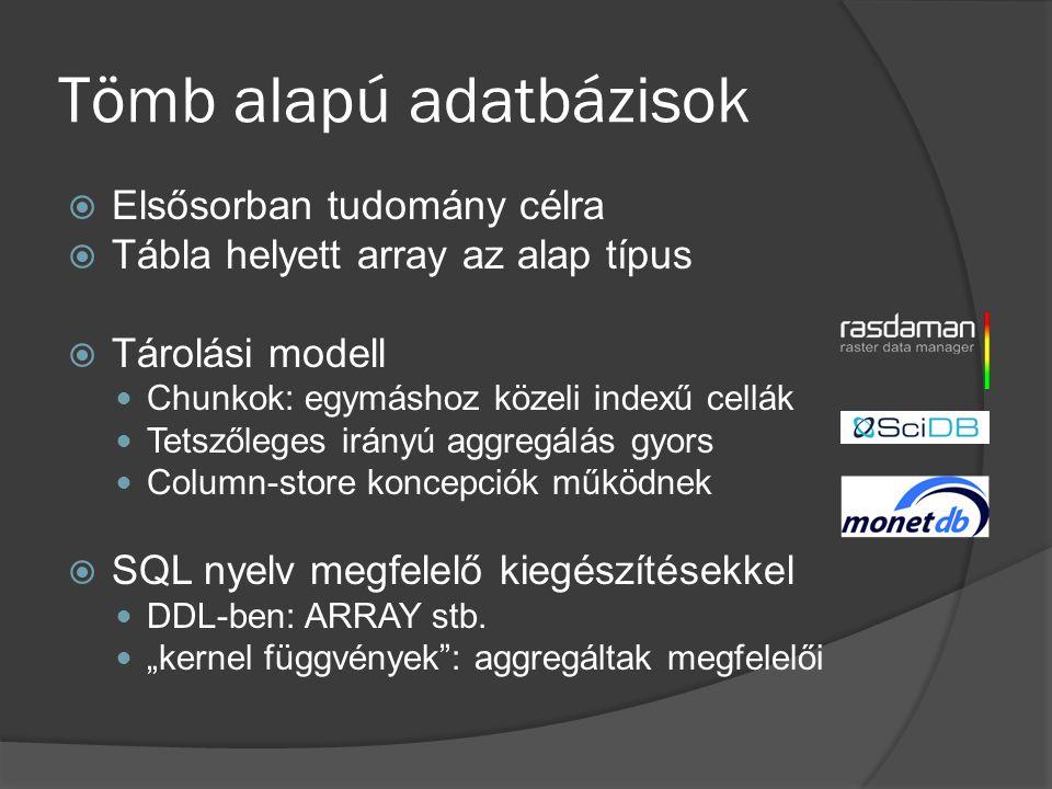 Tömb alapú adatbázisok