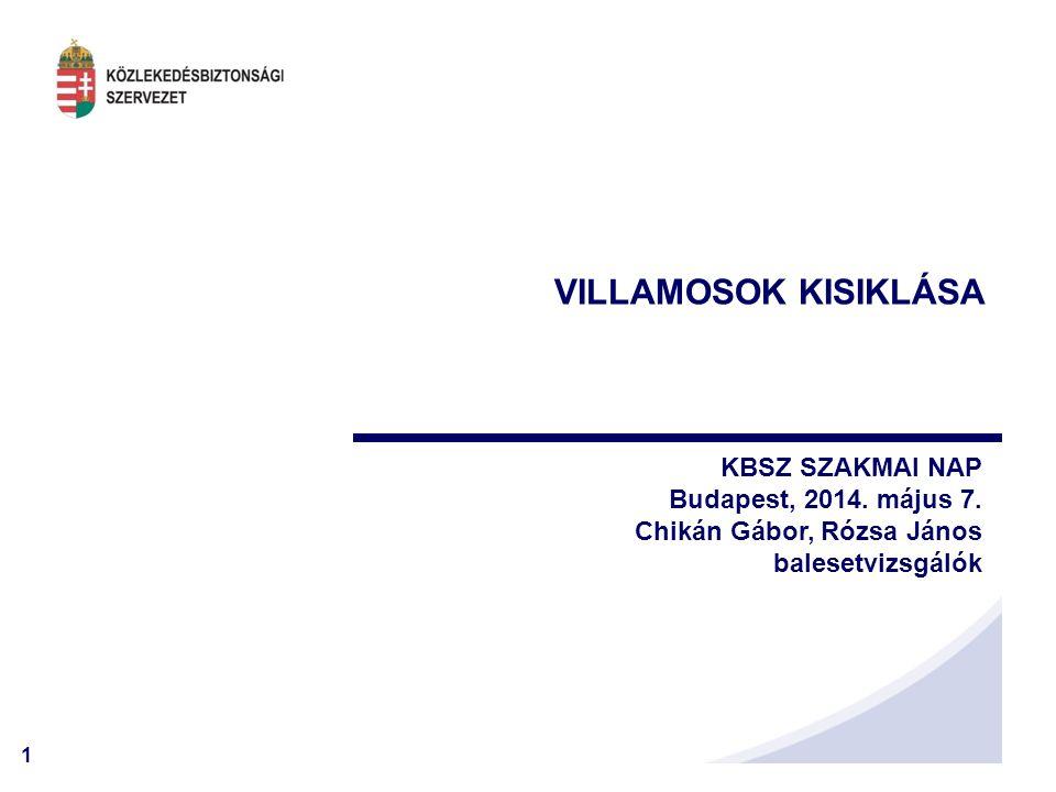 VILLAMOSOK KISIKLÁSA KBSZ SZAKMAI NAP Budapest, 2014. május 7.