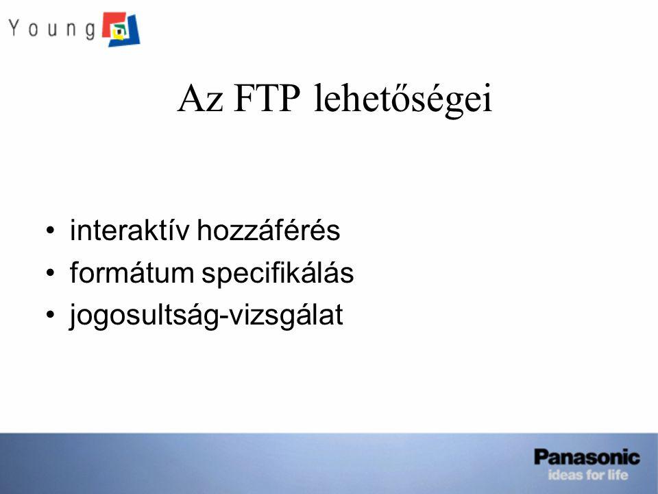 Az FTP lehetőségei interaktív hozzáférés formátum specifikálás