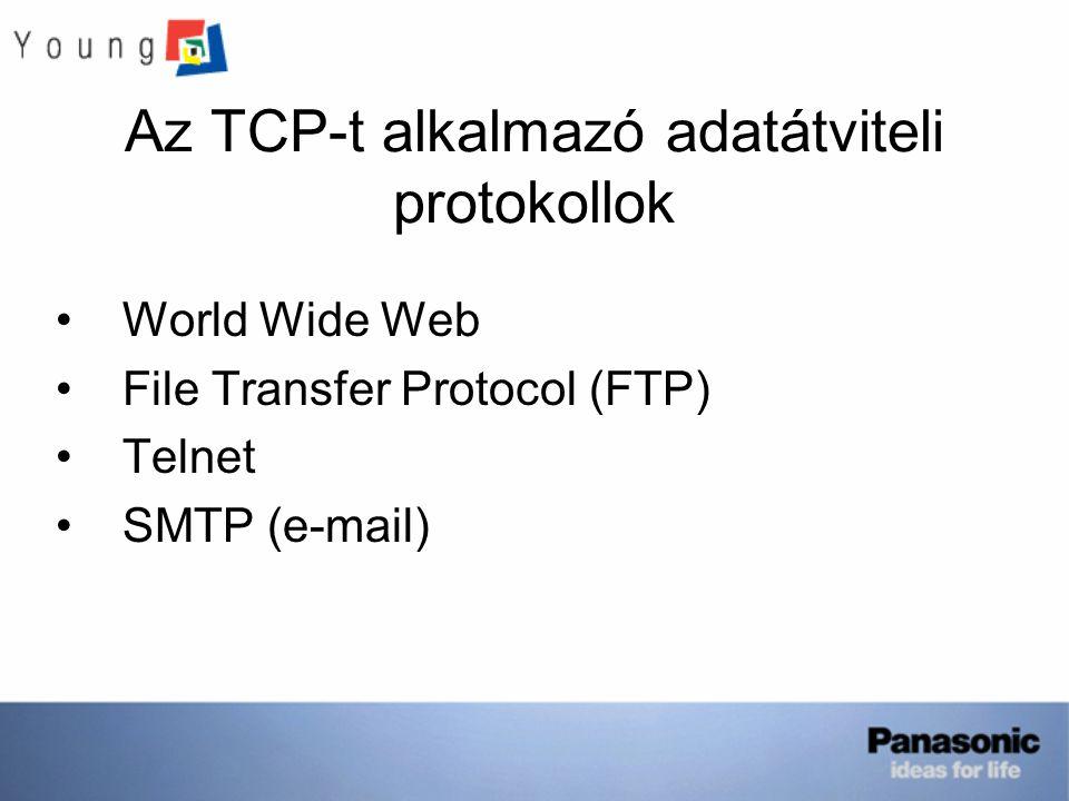 Az TCP-t alkalmazó adatátviteli protokollok