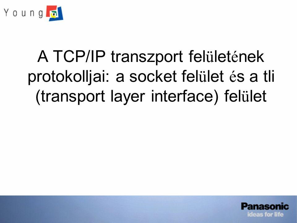 A TCP/IP transzport felületének protokolljai: a socket felület és a tli (transport layer interface) felület