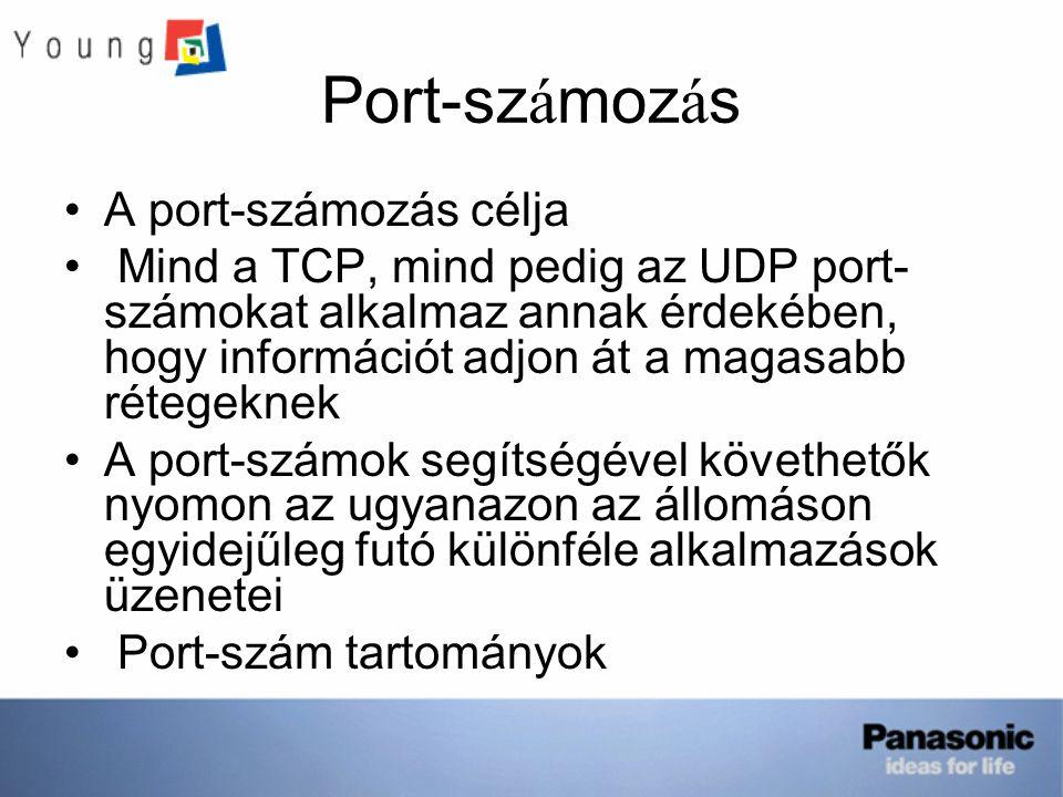 Port-számozás A port-számozás célja