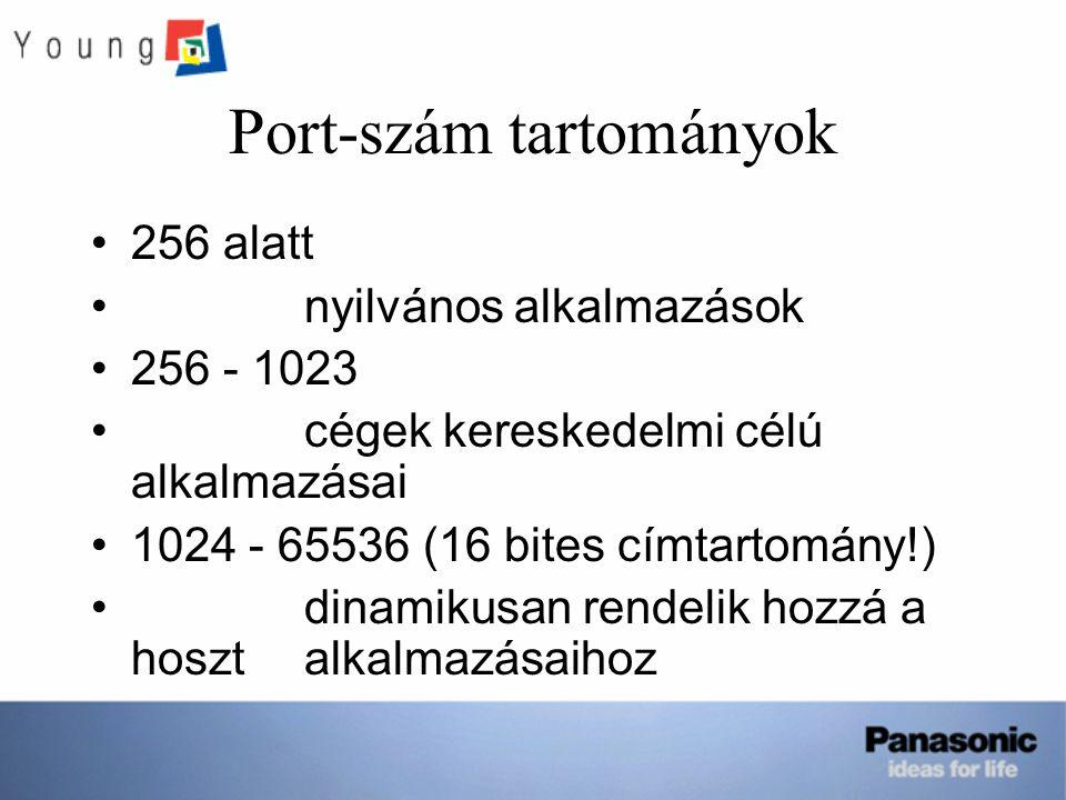 Port-szám tartományok