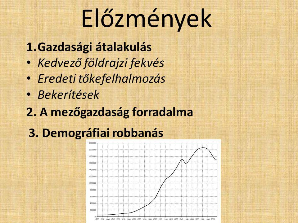 Előzmények Gazdasági átalakulás Kedvező földrajzi fekvés