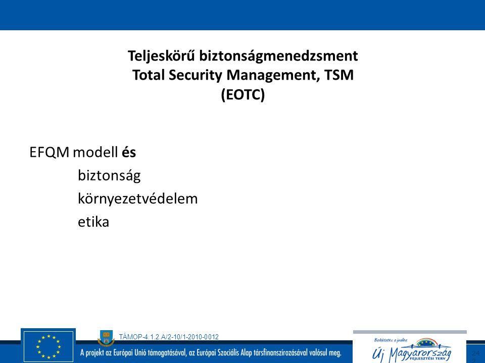 Teljeskörű biztonságmenedzsment Total Security Management, TSM (EOTC)