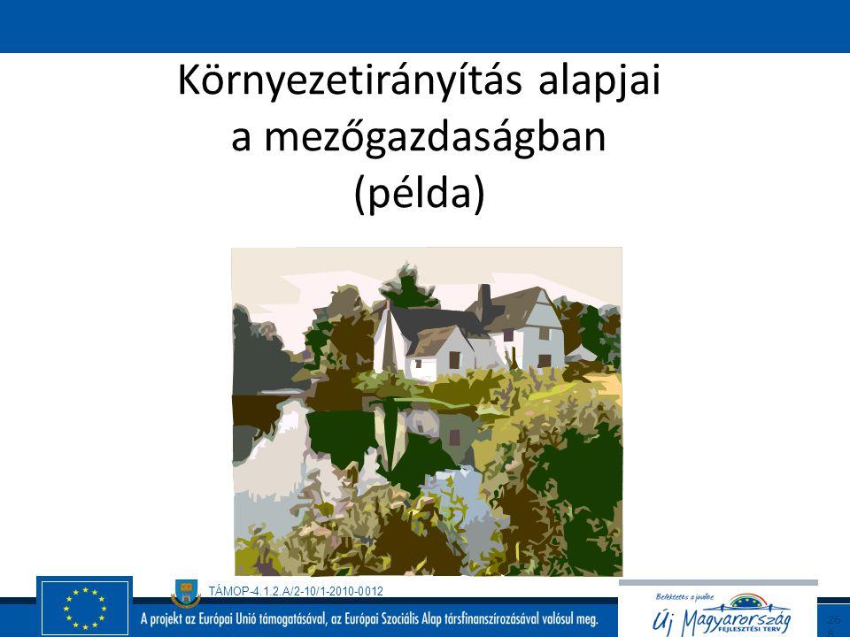 Környezetirányítás alapjai a mezőgazdaságban (példa)