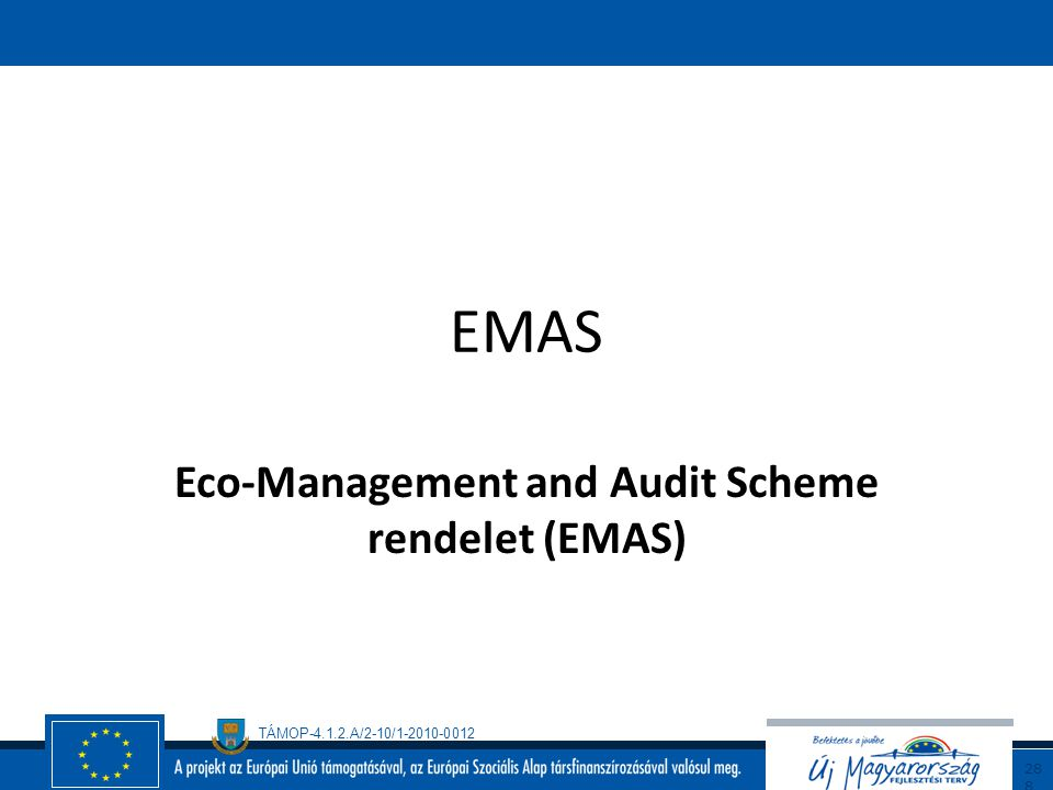 Eco-Management and Audit Scheme rendelet (EMAS)