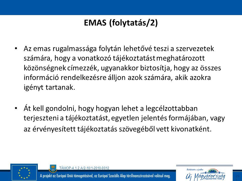 EMAS (folytatás/2)