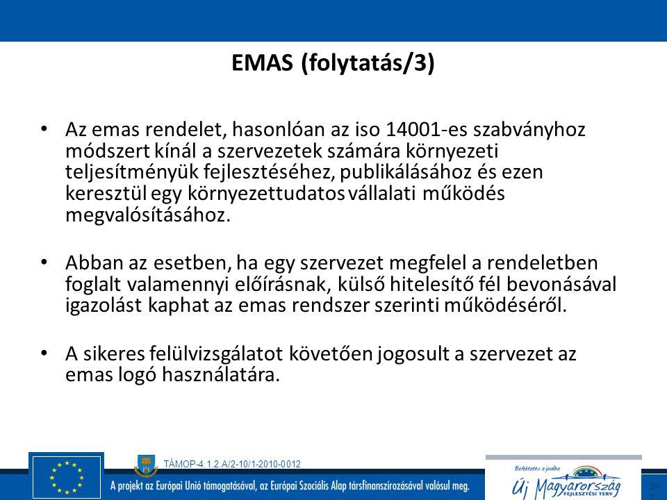 EMAS (folytatás/3)