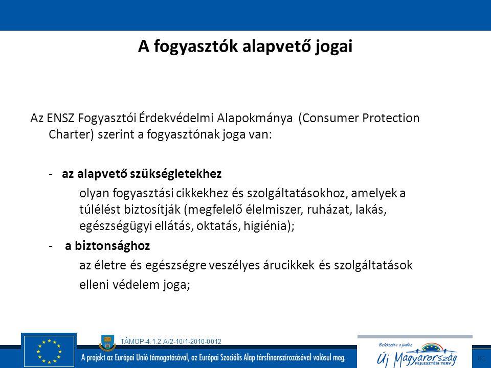 A fogyasztók alapvető jogai
