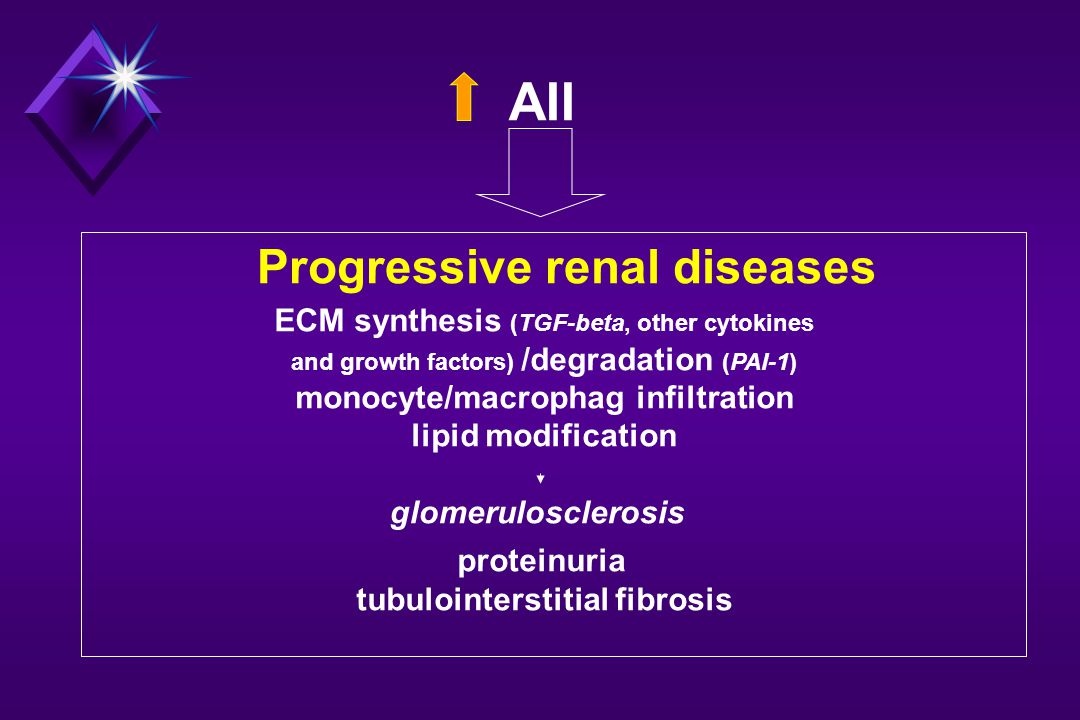 AII Progressive renal diseases