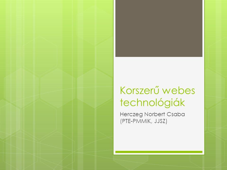 Korszerű webes technológiák