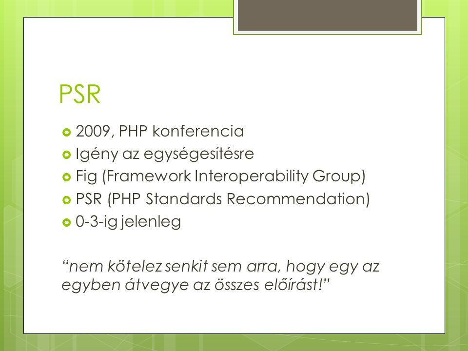 PSR 2009, PHP konferencia Igény az egységesítésre