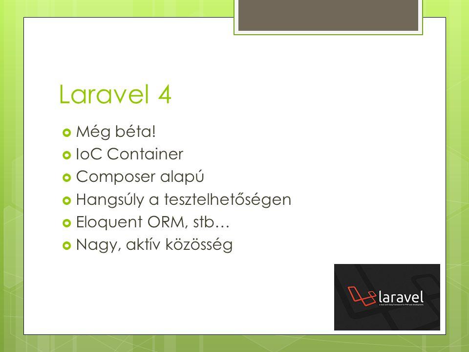Laravel 4 Még béta! IoC Container Composer alapú