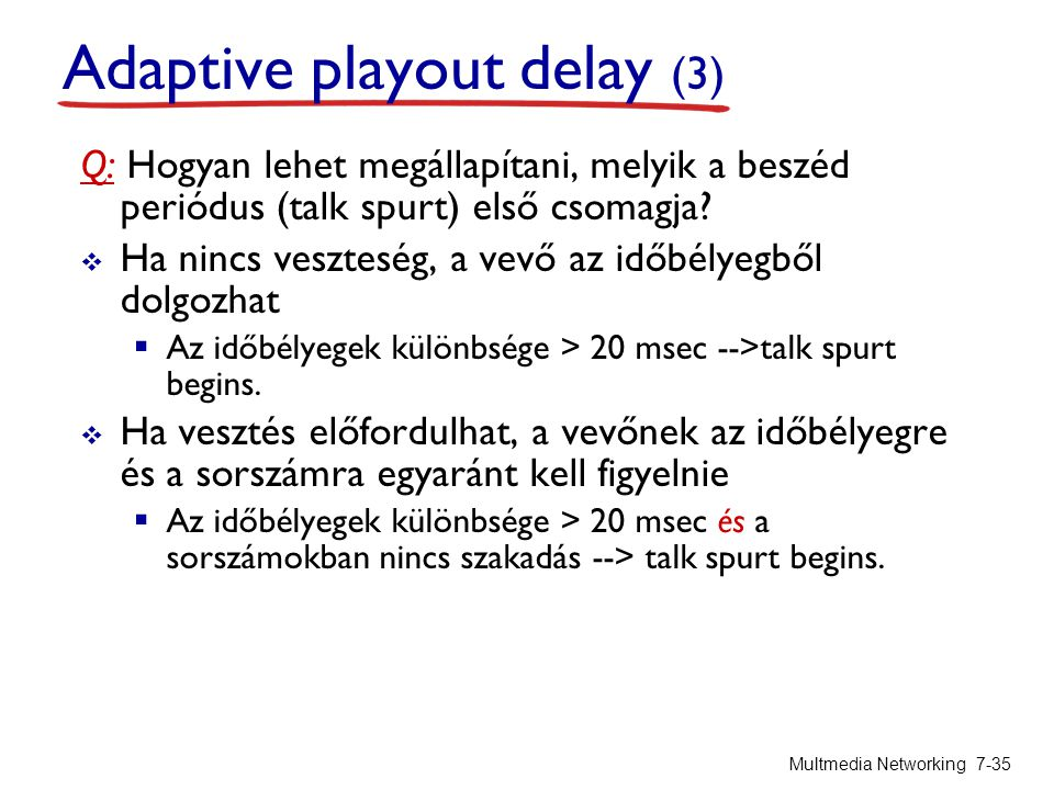 Adaptive playout delay (3)