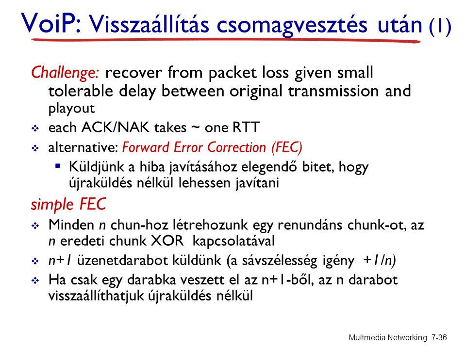 VoiP: Visszaállítás csomagvesztés után (1)