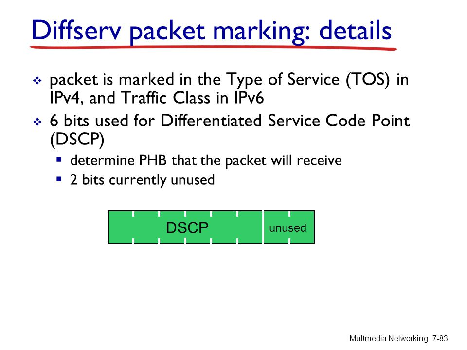 Diffserv packet marking: details