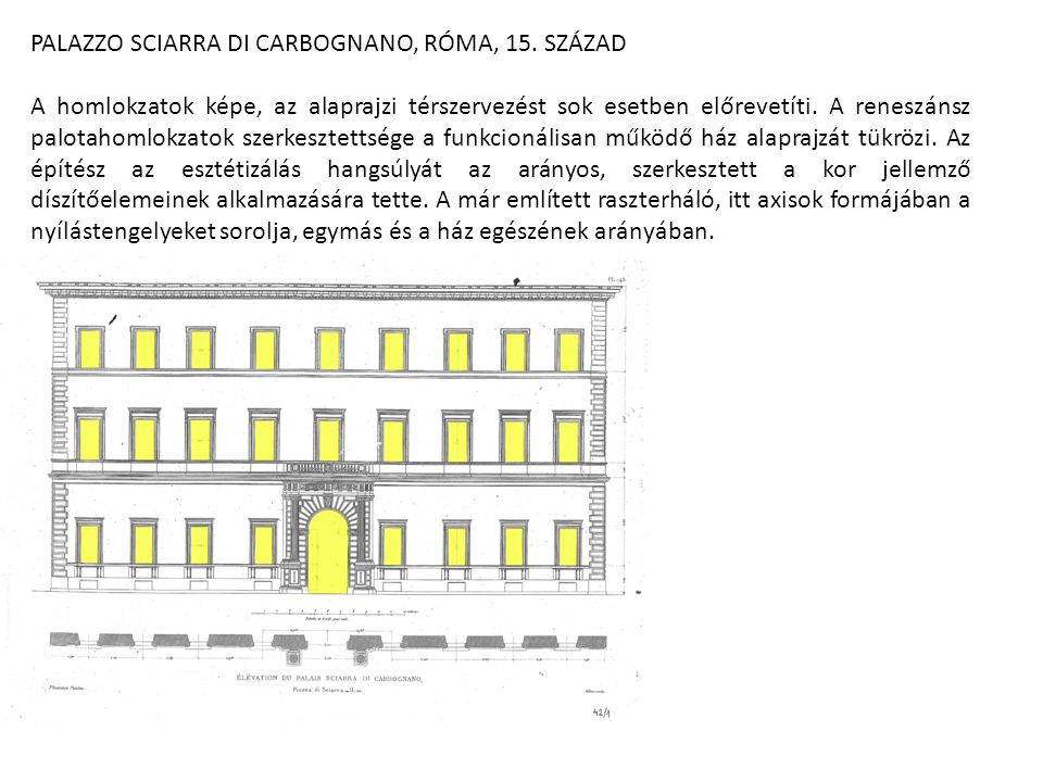 PALAZZO SCIARRA DI CARBOGNANO, RÓMA, 15. SZÁZAD