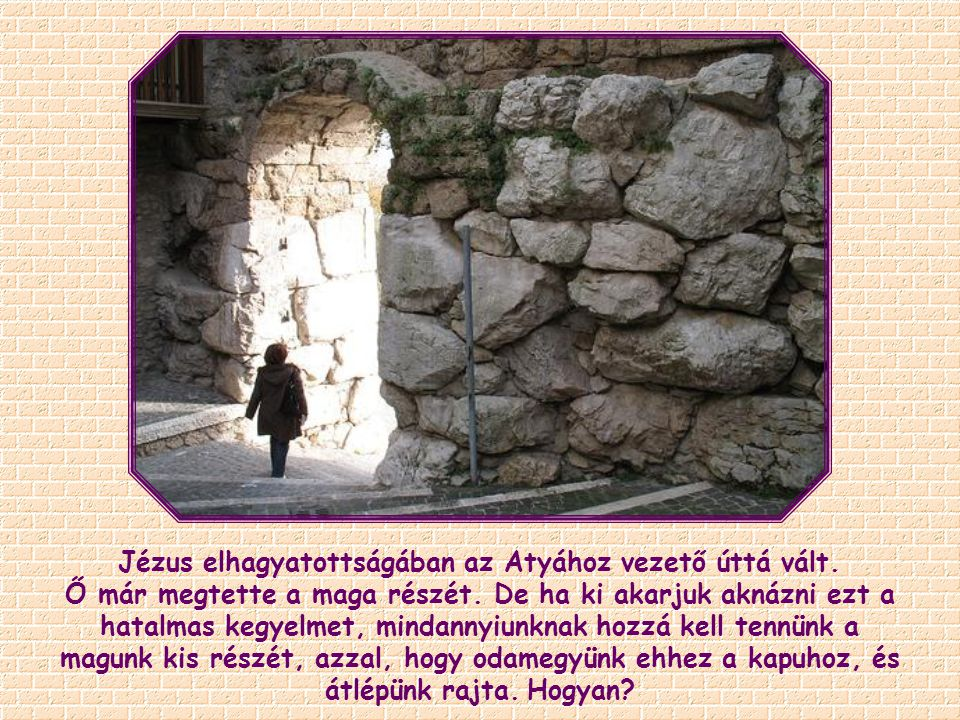 Jézus elhagyatottságában az Atyához vezető úttá vált.