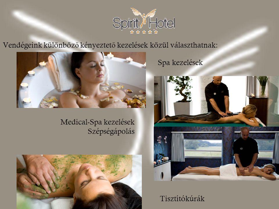 Vendégeink különböző kényeztető kezelések közül választhatnak: