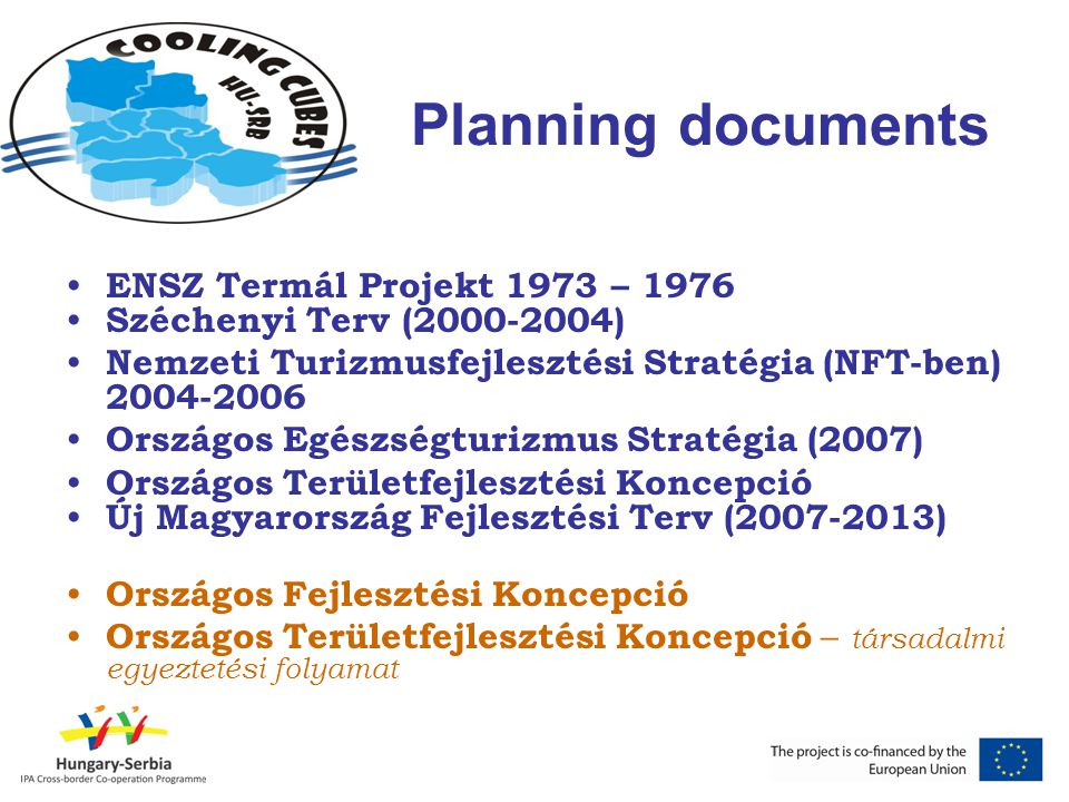Planning documents ENSZ Termál Projekt 1973 – 1976