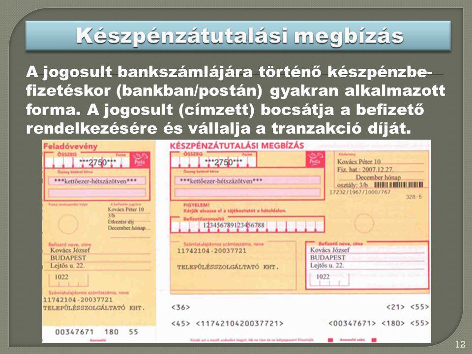 Készpénzátutalási megbízás
