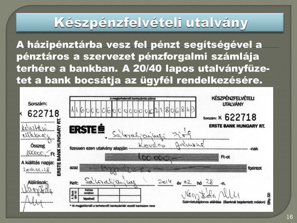 Készpénzfelvételi utalvány
