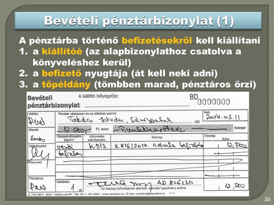 Bevételi pénztárbizonylat (1)