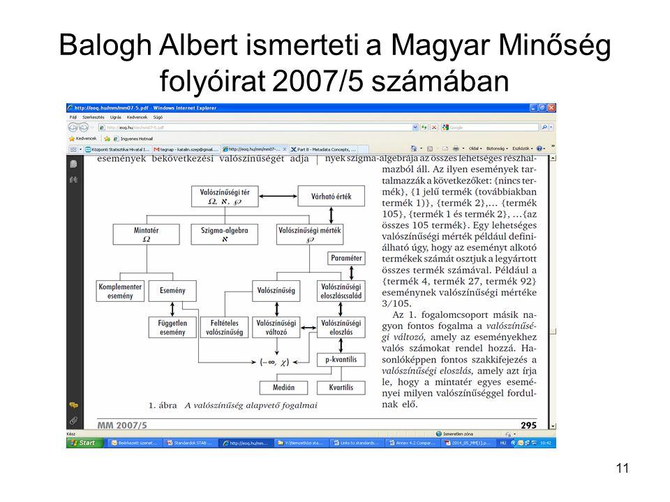 Balogh Albert ismerteti a Magyar Minőség folyóirat 2007/5 számában