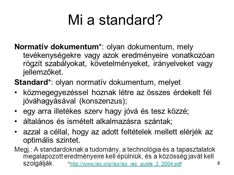 Mi a standard
