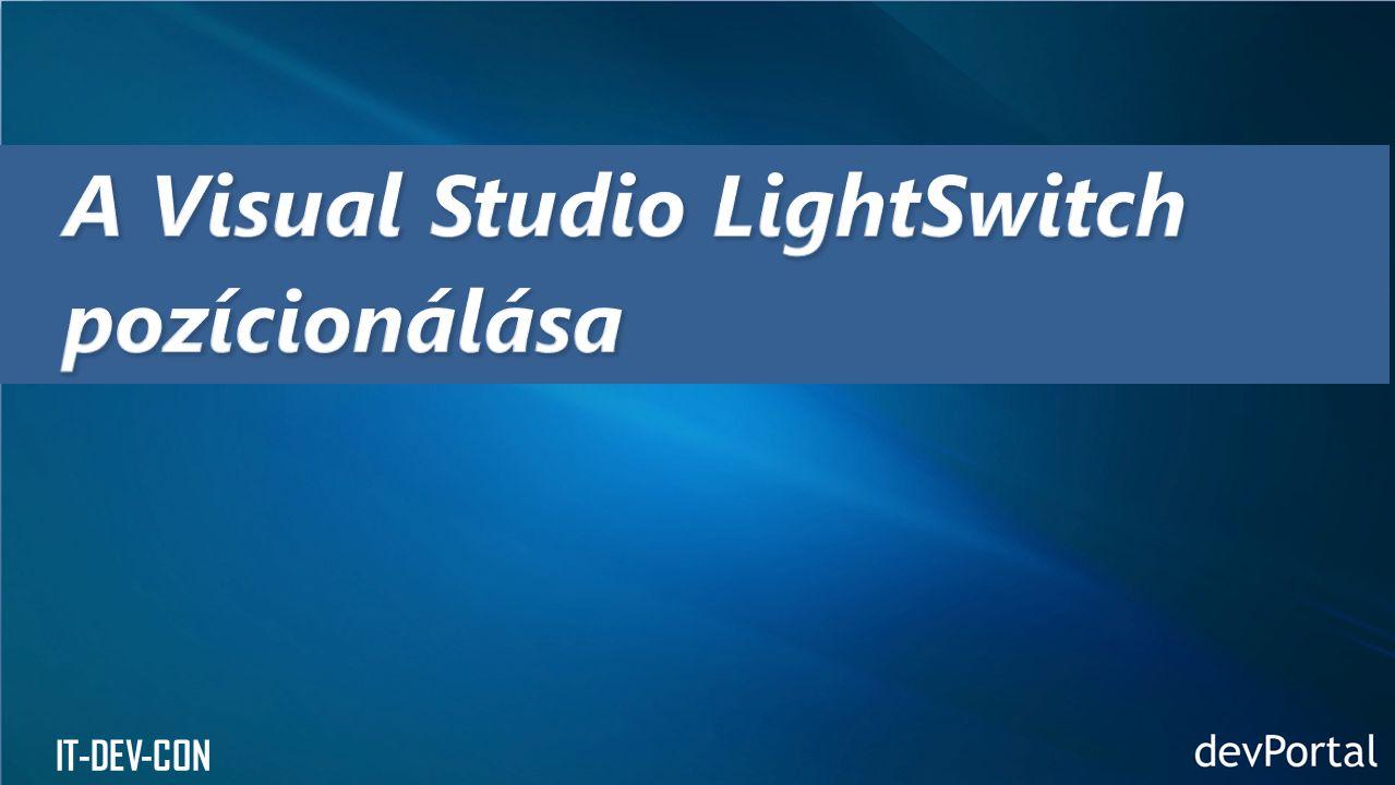 A Visual Studio LightSwitch pozícionálása