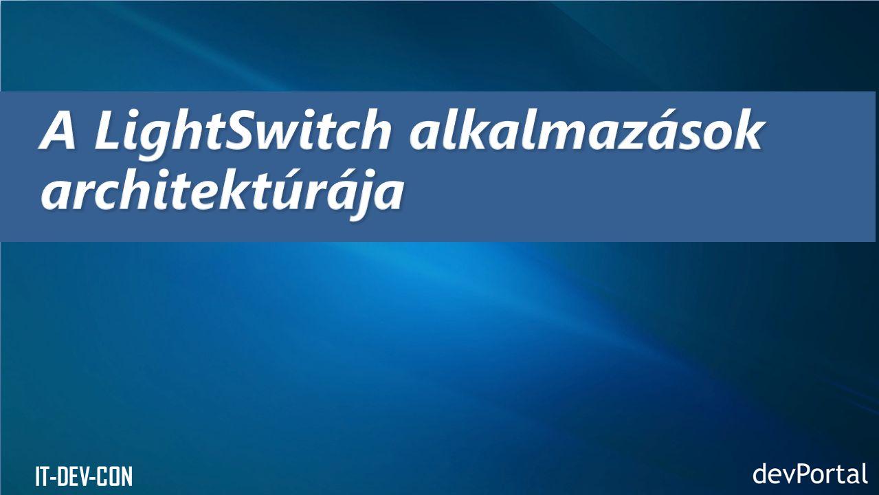 A LightSwitch alkalmazások architektúrája