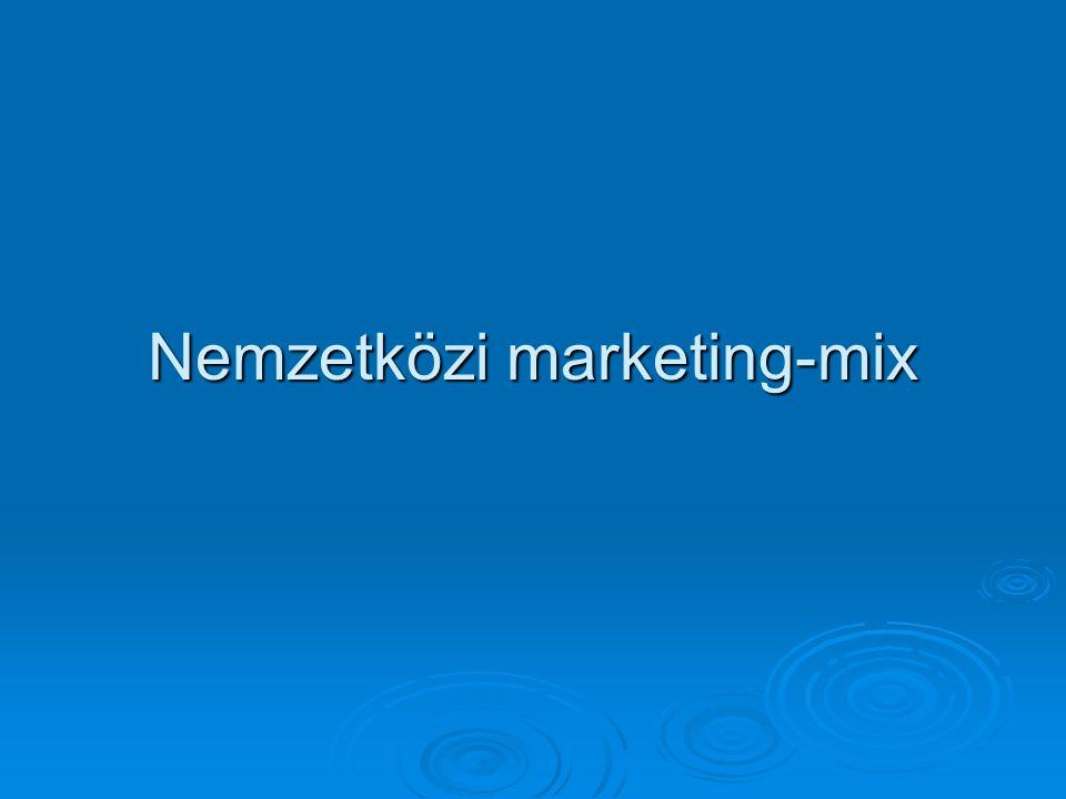Nemzetközi marketing-mix