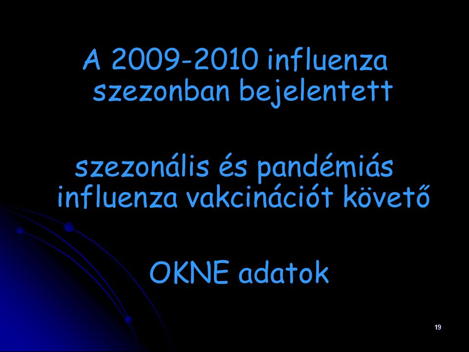 A 2009-2010 influenza szezonban bejelentett