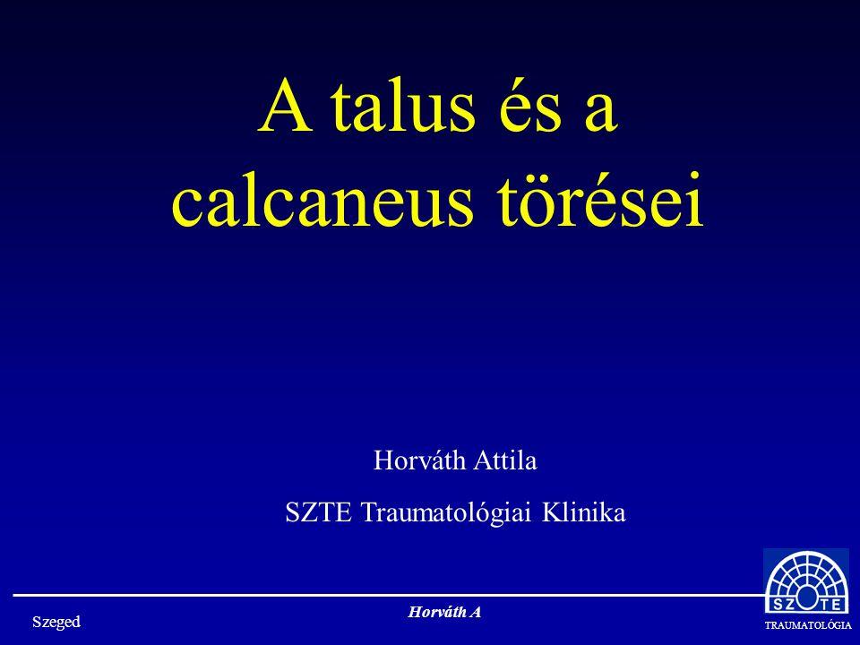 A talus és a calcaneus törései