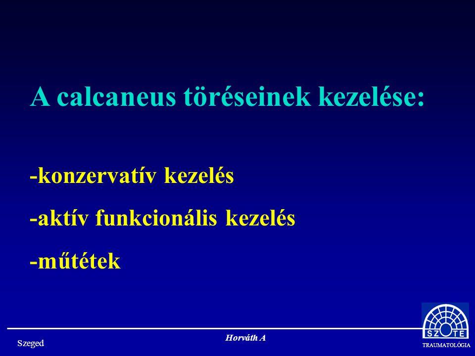 A calcaneus töréseinek kezelése: