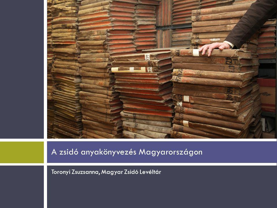 A zsidó anyakönyvezés Magyarországon