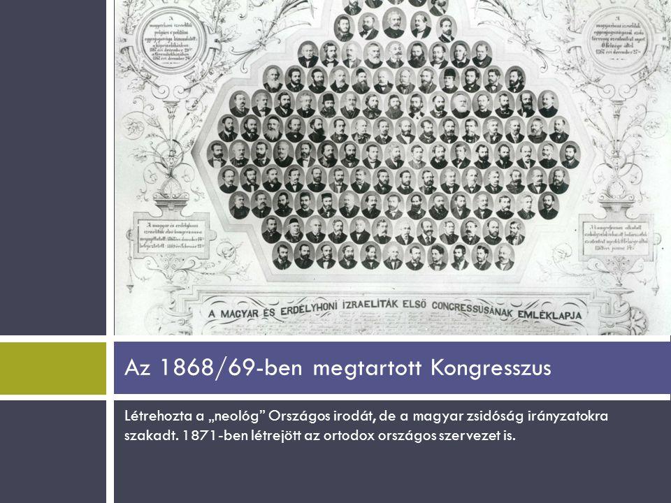 Az 1868/69-ben megtartott Kongresszus