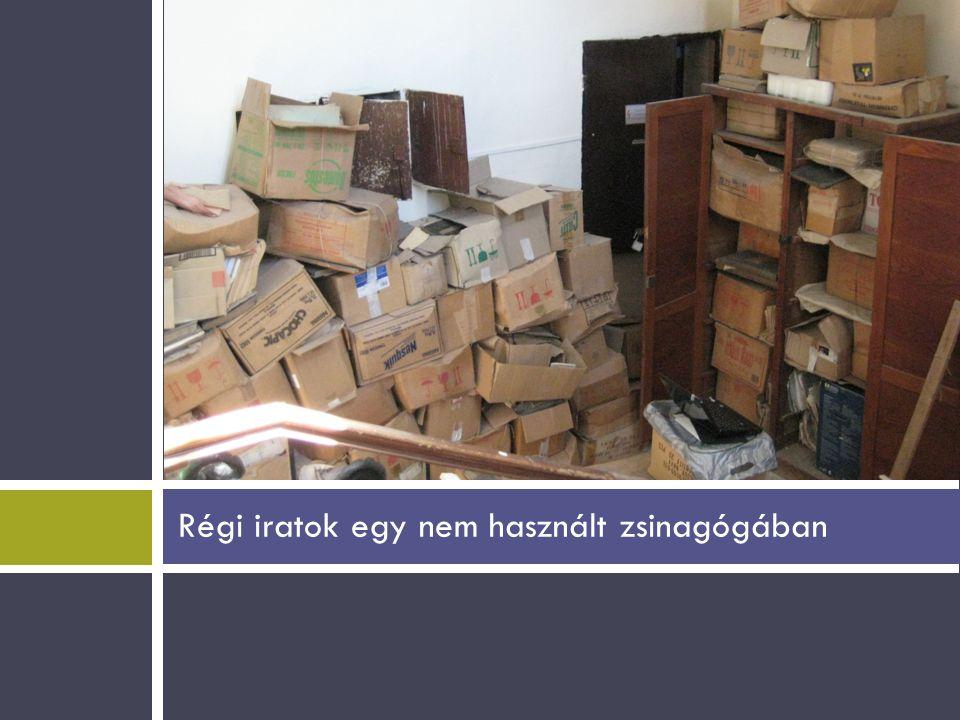 Régi iratok egy nem használt zsinagógában
