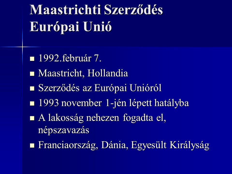 Maastrichti Szerződés Európai Unió